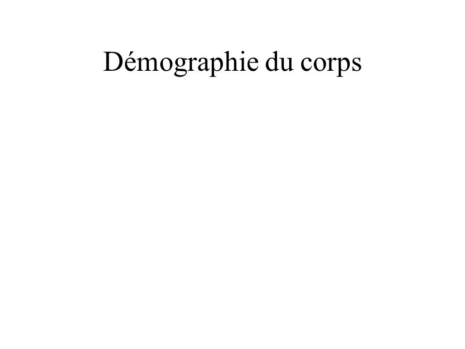 Démographie du corps