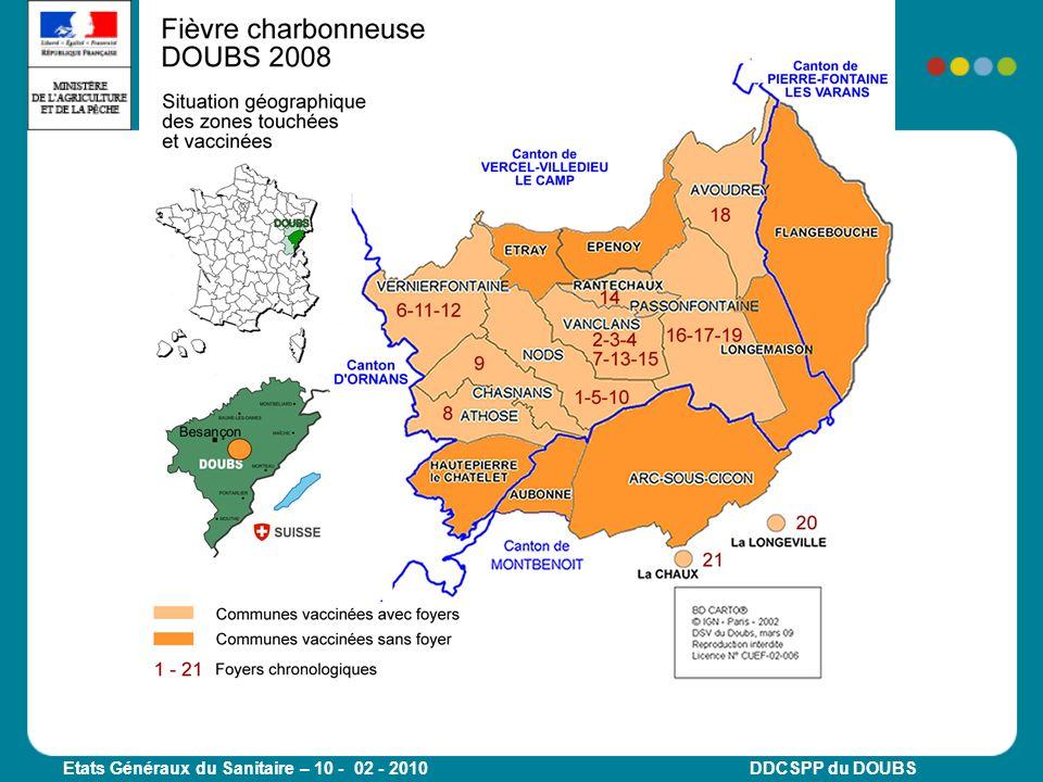 Etats Généraux du Sanitaire – 10 - 02 - 2010 DDCSPP du DOUBS