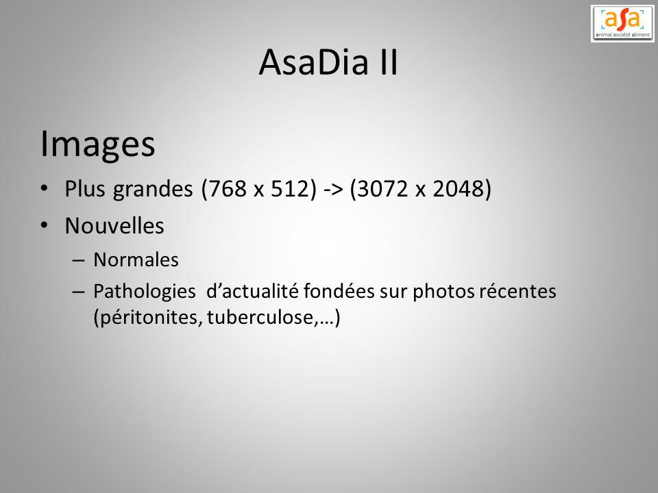AsaDia II Images Plus grandes (768 x 512) -> (3072 x 2048) Nouvelles – Normales – Pathologies dactualité fondées sur photos récentes (péritonites, tub