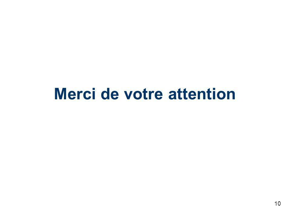 10 Merci de votre attention