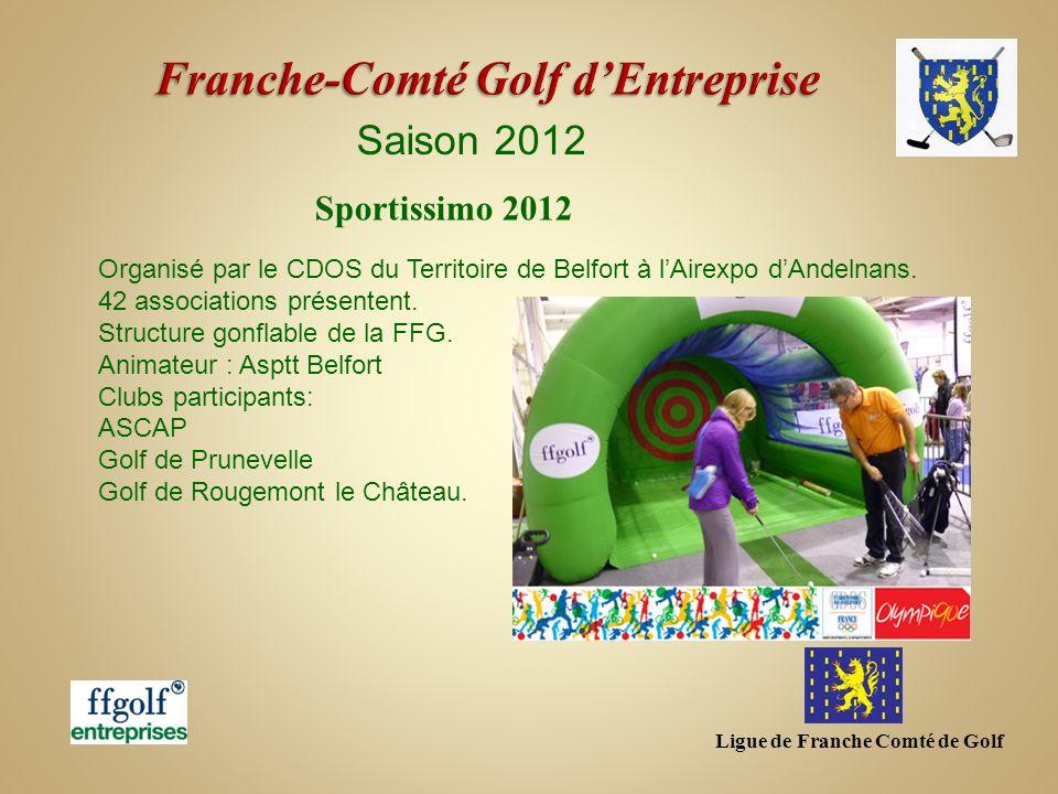 Ligue de Franche Comté de Golf Saison 2012 Organisé par le CDOS du Territoire de Belfort à lAirexpo dAndelnans. 42 associations présentent. Structure