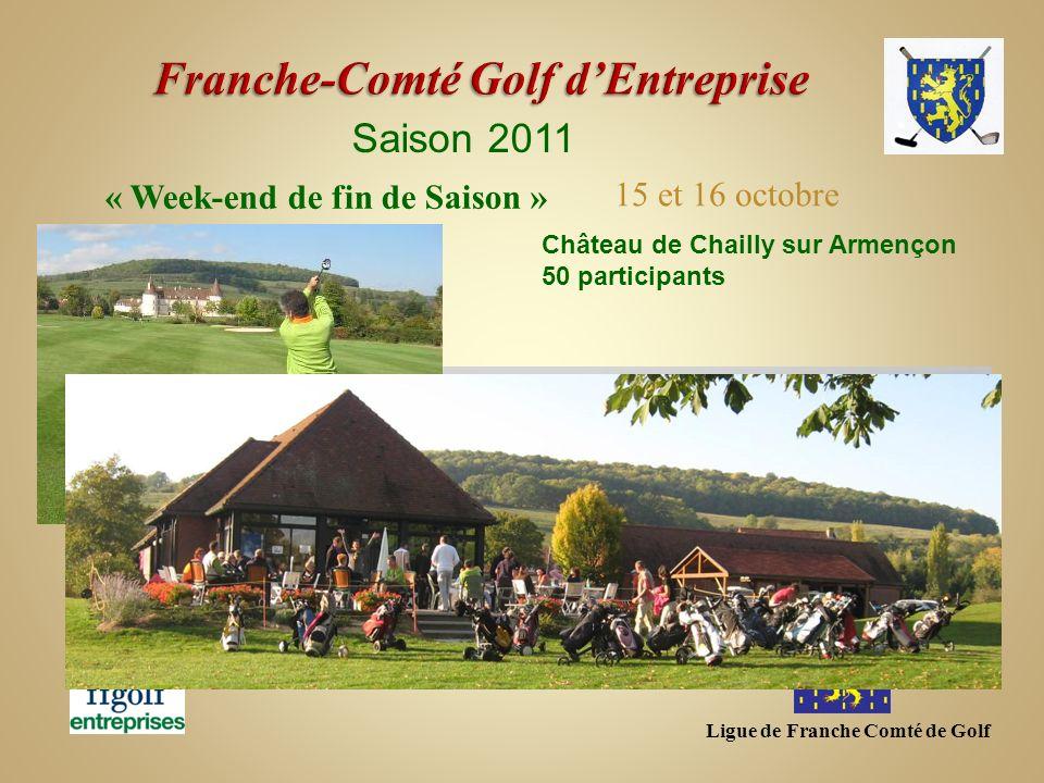 Ligue de Franche Comté de Golf Saison 2011 Château de Chailly sur Armençon 50 participants « Week-end de fin de Saison » 15 et 16 octobre