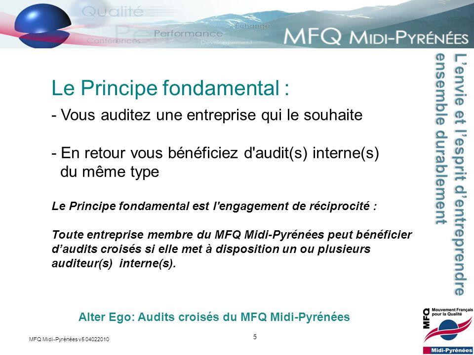 5 - Vous auditez une entreprise qui le souhaite - En retour vous bénéficiez d'audit(s) interne(s) du même type Le Principe fondamental : Alter Ego: Au