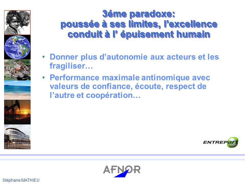 Stéphane MATHIEU 4éme paradoxe: linattendu dans un processus peut être source de succès.