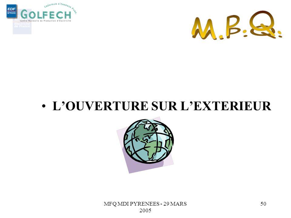 MFQ MDI PYRENEES - 29 MARS 2005 49 LAuto diagnostic au Magasin général. Les actions : SEVALUER, HIERARCHISER, PROGRESSER, MESURER, IMPLIQUER, FEDERER.