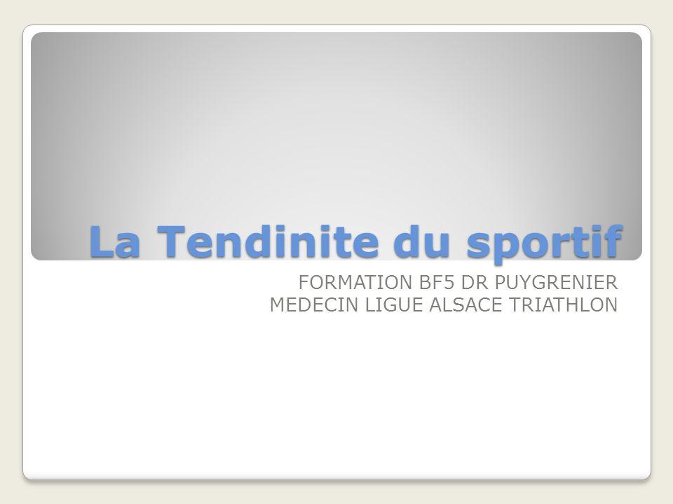 La tendinite correspond au terme générique pour désigner linflammation dun tendon.