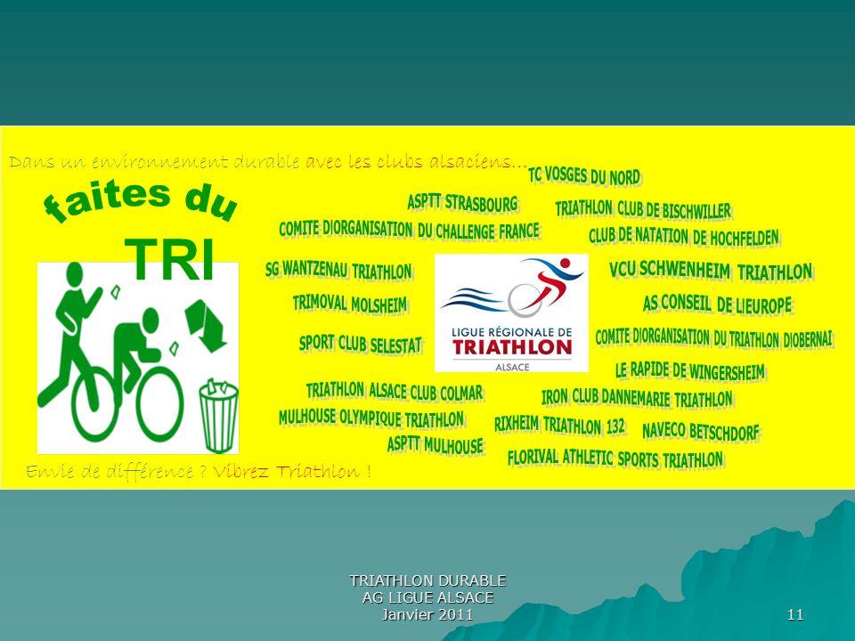 11 TRI Envie de différence ? Vibrez Triathlon ! Dans un environnement durable avec les clubs alsaciens…