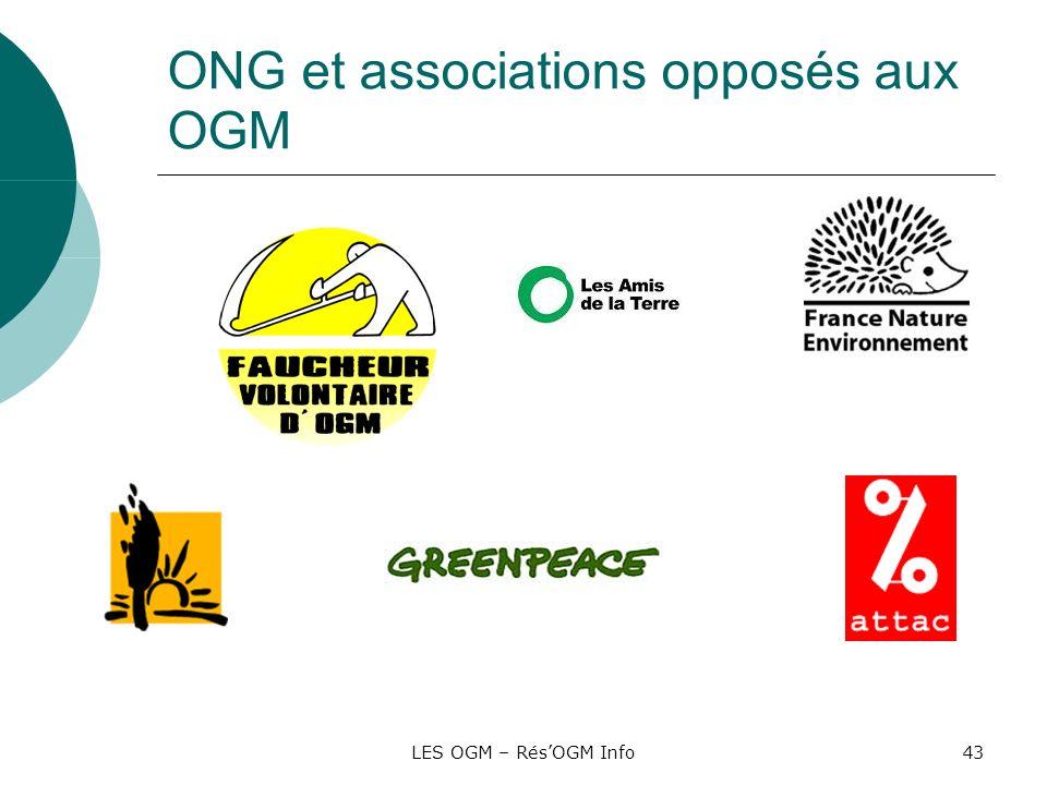 LES OGM – RésOGM Info43 ONG et associations opposés aux OGM