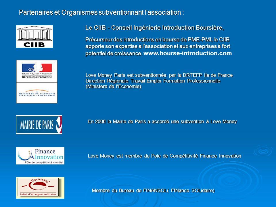 Partenaires et Organismes subventionnant lassociation : Le CIIB - Conseil Ingénierie Introduction Boursière, Précurseur des introductions en bourse de