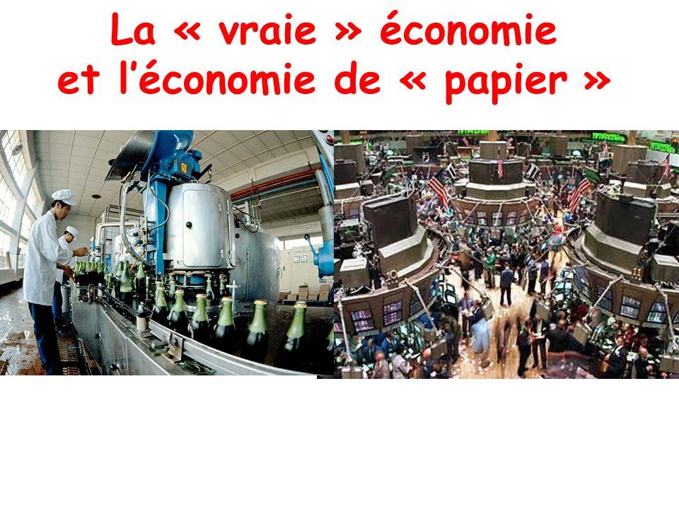 La « vraie » économie et léconomie de « papier »