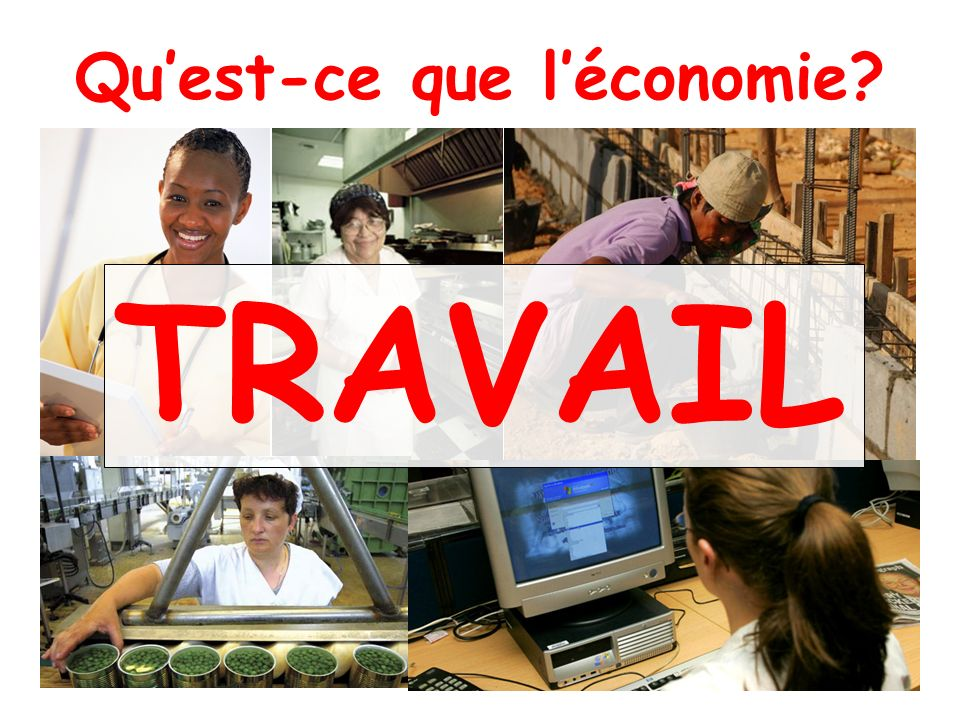 Quest-ce que léconomie? TRAVAIL