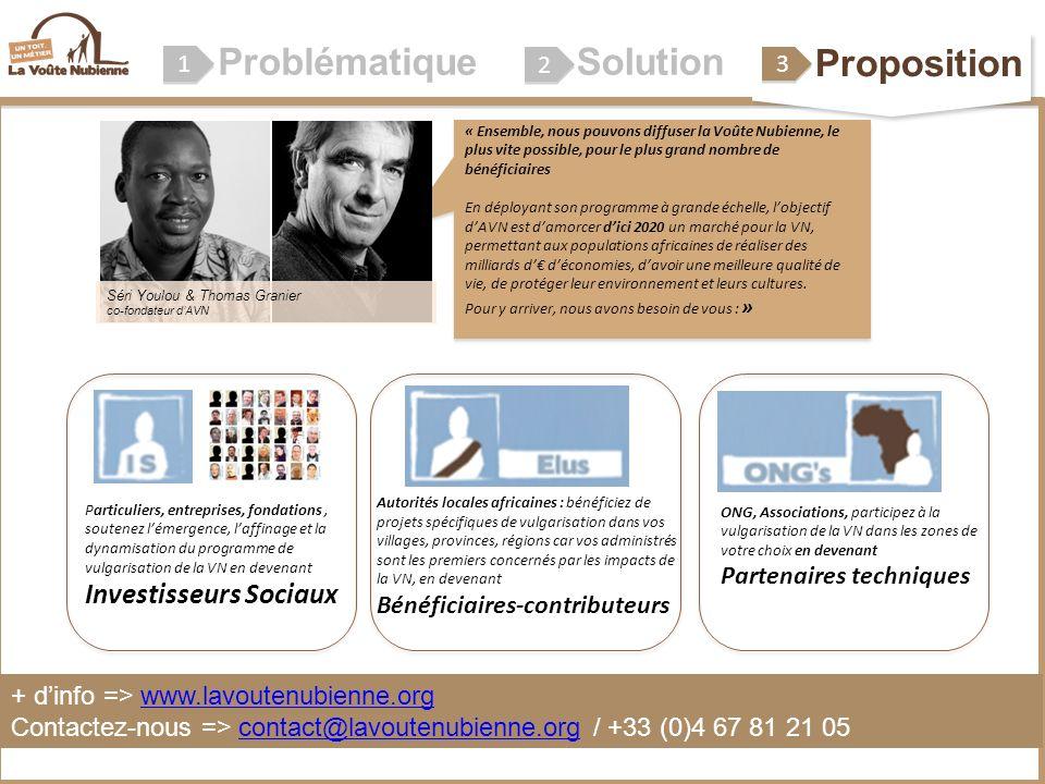Problématique 1 1 2 2 « Ensemble, nous pouvons diffuser la Voûte Nubienne, le plus vite possible, pour le plus grand nombre de bénéficiaires En déploy