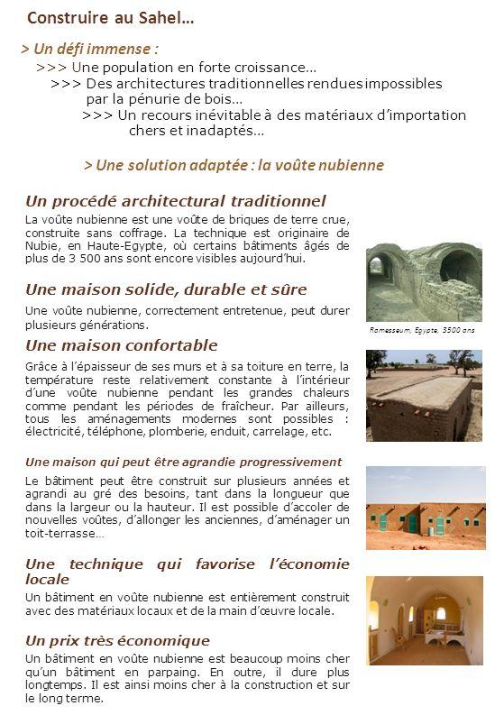 Construire au Sahel… > Un défi immense : >>> Une population en forte croissance… >>> Des architectures traditionnelles rendues impossibles par la pénu