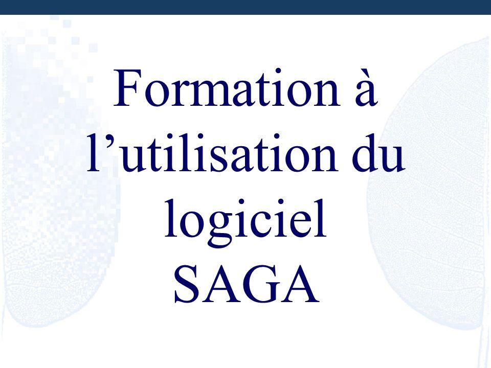 Formation à lutilisation du logiciel SAGA