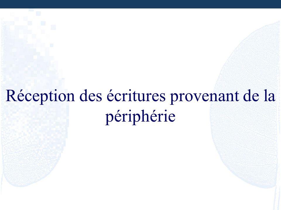 Réception des écritures provenant de la périphérie