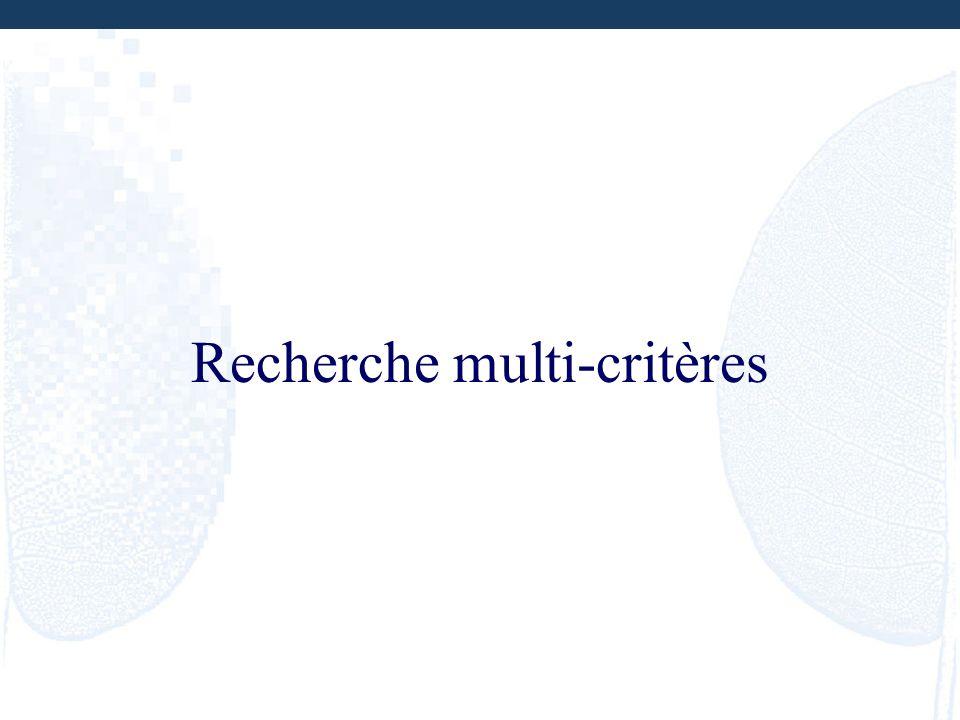 Recherche multi-critères