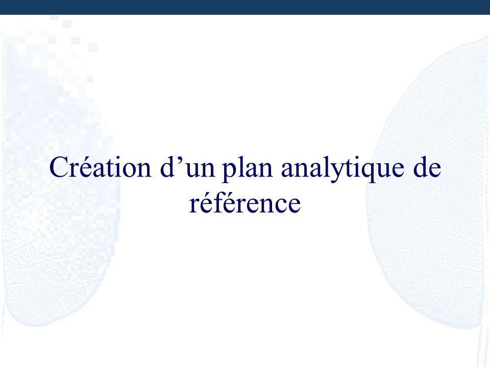 Création dun plan analytique de référence