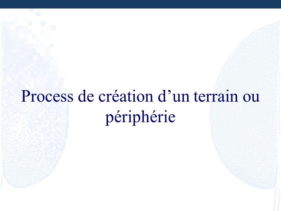 Process de création dun terrain ou périphérie