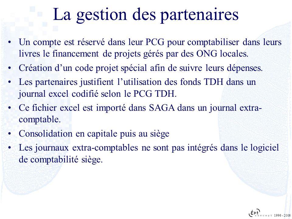 Un compte est réservé dans leur PCG pour comptabiliser dans leurs livres le financement de projets gérés par des ONG locales. Création dun code projet