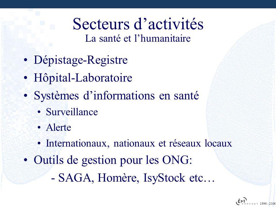 Dépistage-Registre Hôpital-Laboratoire Systèmes dinformations en santé Surveillance Alerte Internationaux, nationaux et réseaux locaux Outils de gesti