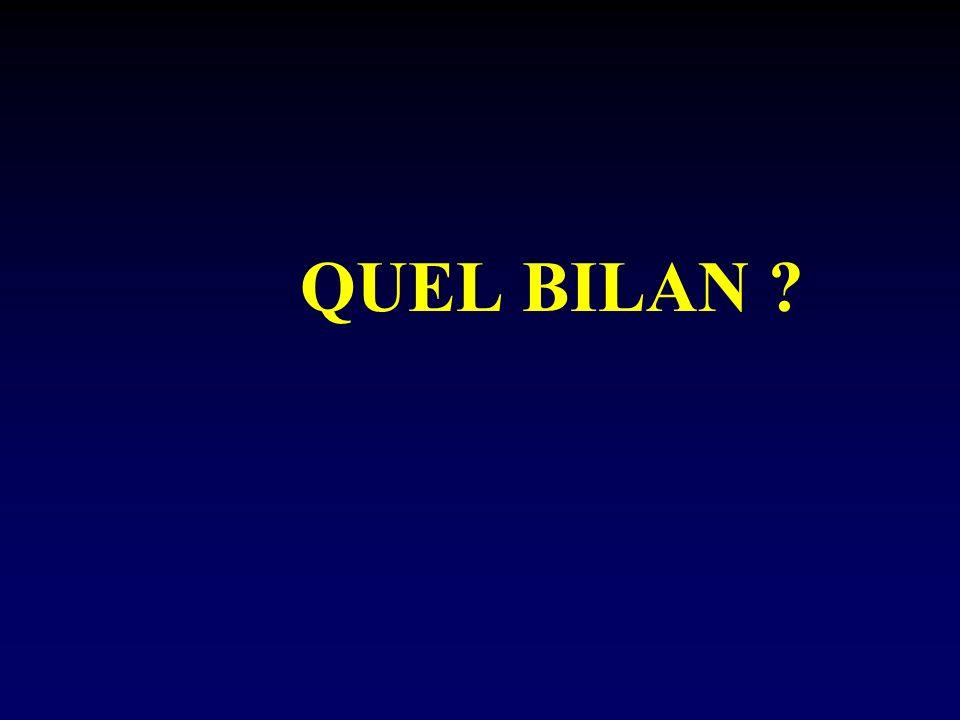 QUEL BILAN ?