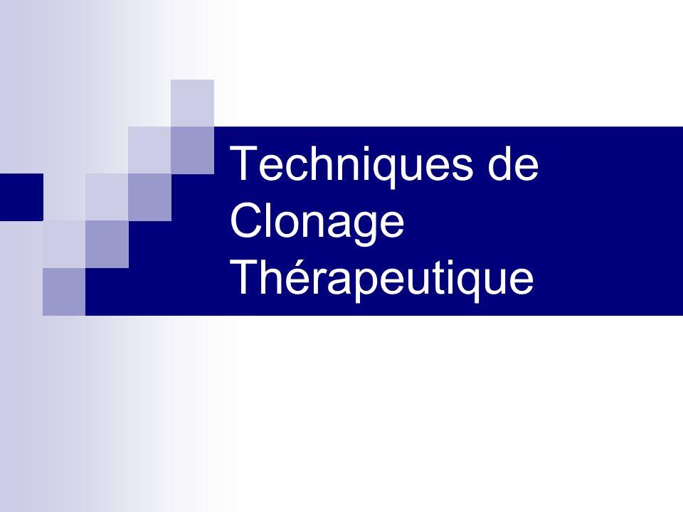 Techniques de Clonage Thérapeutique