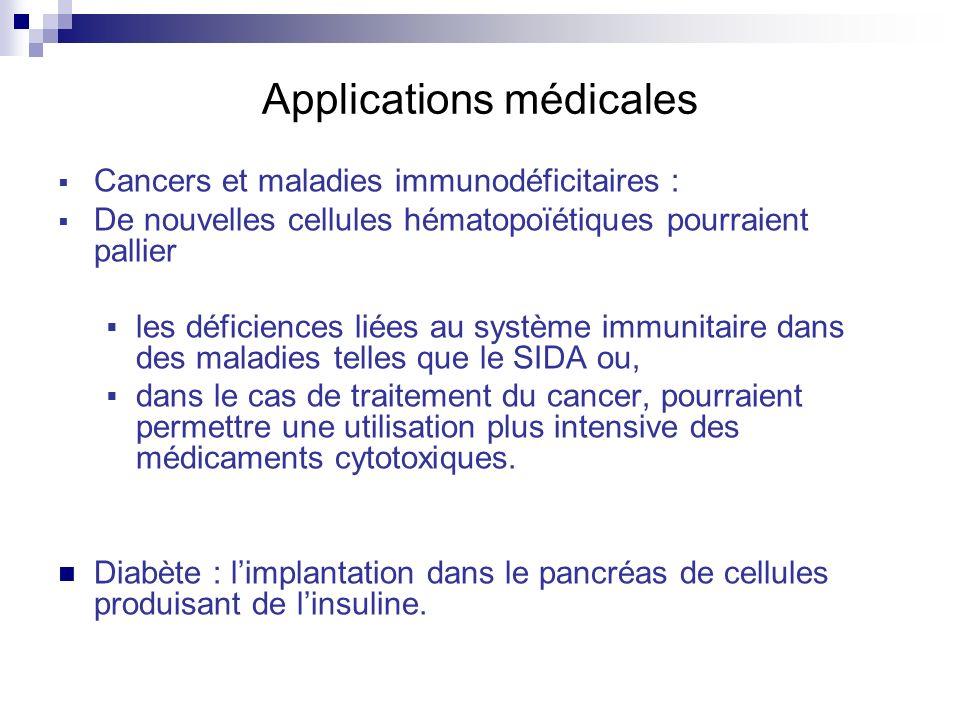 Applications médicales Cancers et maladies immunodéficitaires : De nouvelles cellules hématopoïétiques pourraient pallier les déficiences liées au sys