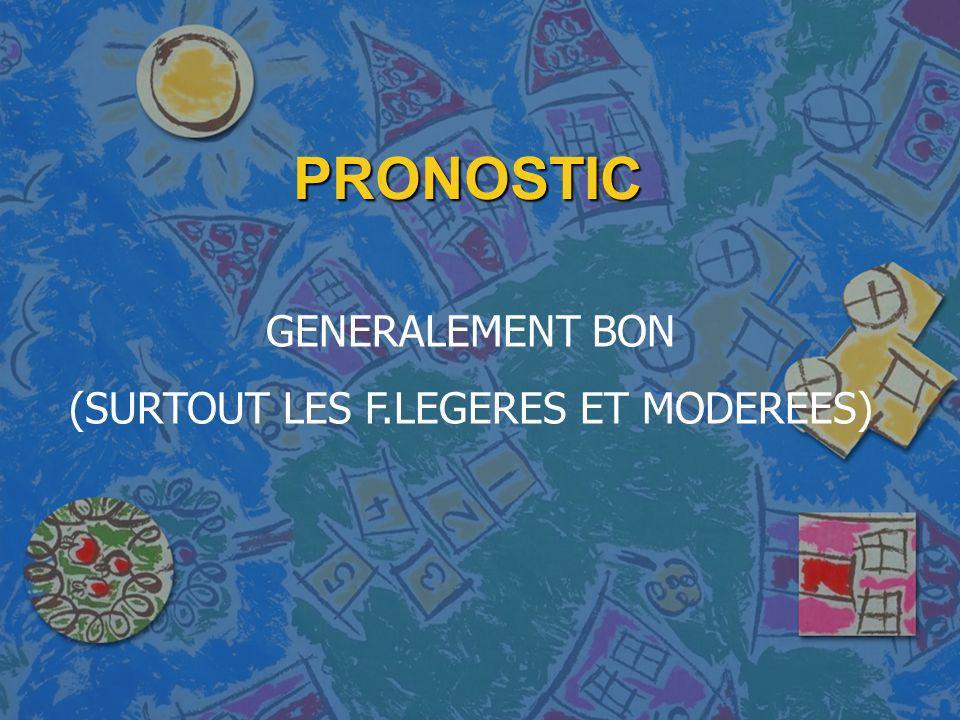 PRONOSTIC GENERALEMENT BON (SURTOUT LES F.LEGERES ET MODEREES)