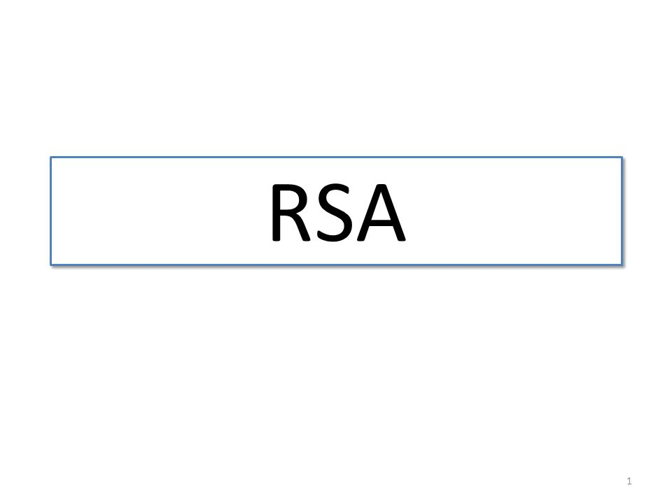 1 RSA