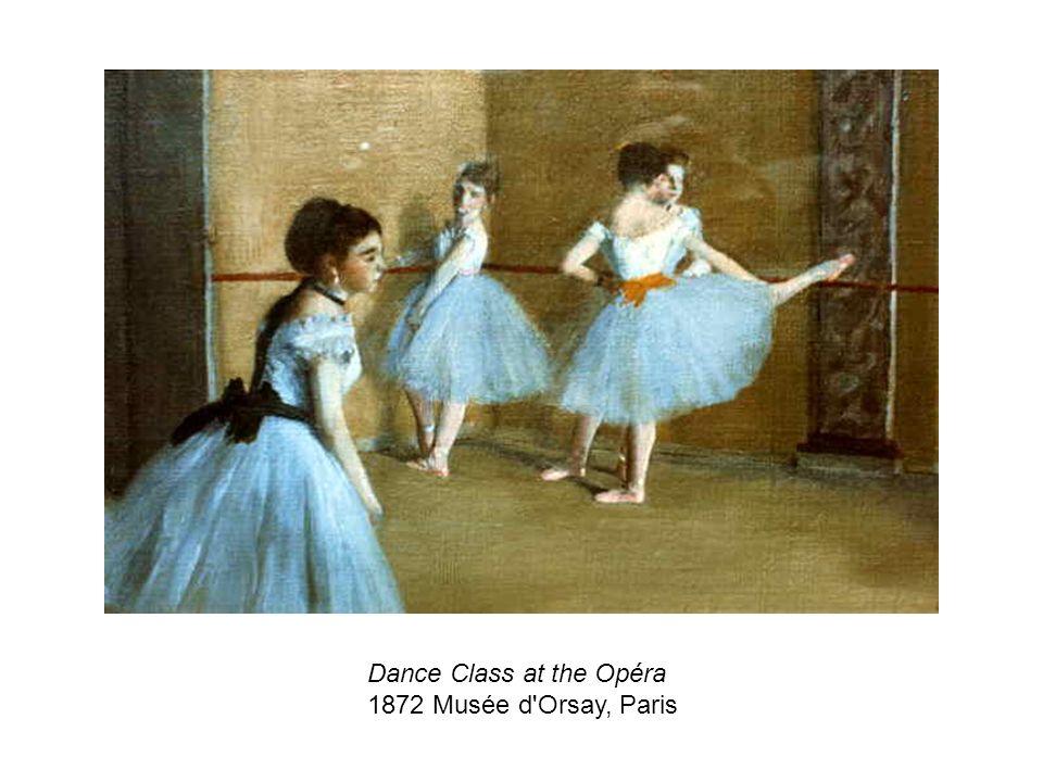 Dance Class at the Opéra 1872 Musée d'Orsay, Paris