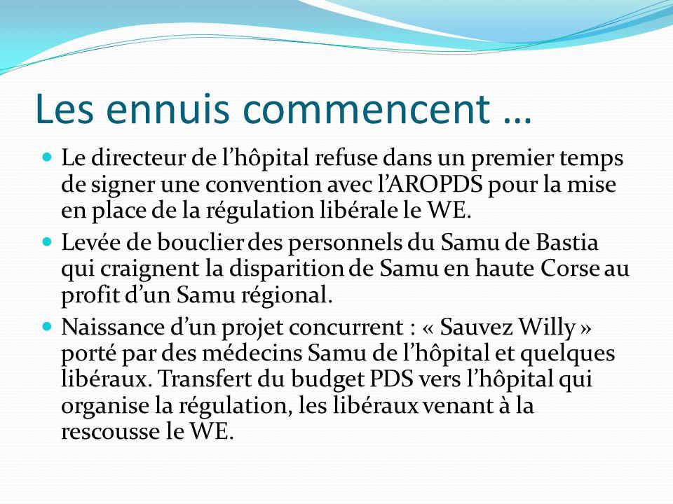 Les ennuis commencent … Le directeur de lhôpital refuse dans un premier temps de signer une convention avec lAROPDS pour la mise en place de la régula