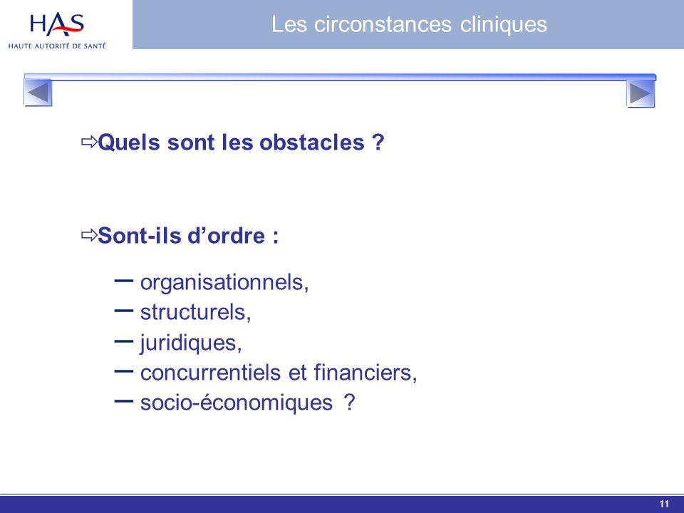 EBM 200611 Quels sont les obstacles ? Sont-ils dordre : – organisationnels, – structurels, – juridiques, – concurrentiels et financiers, – socio-écono