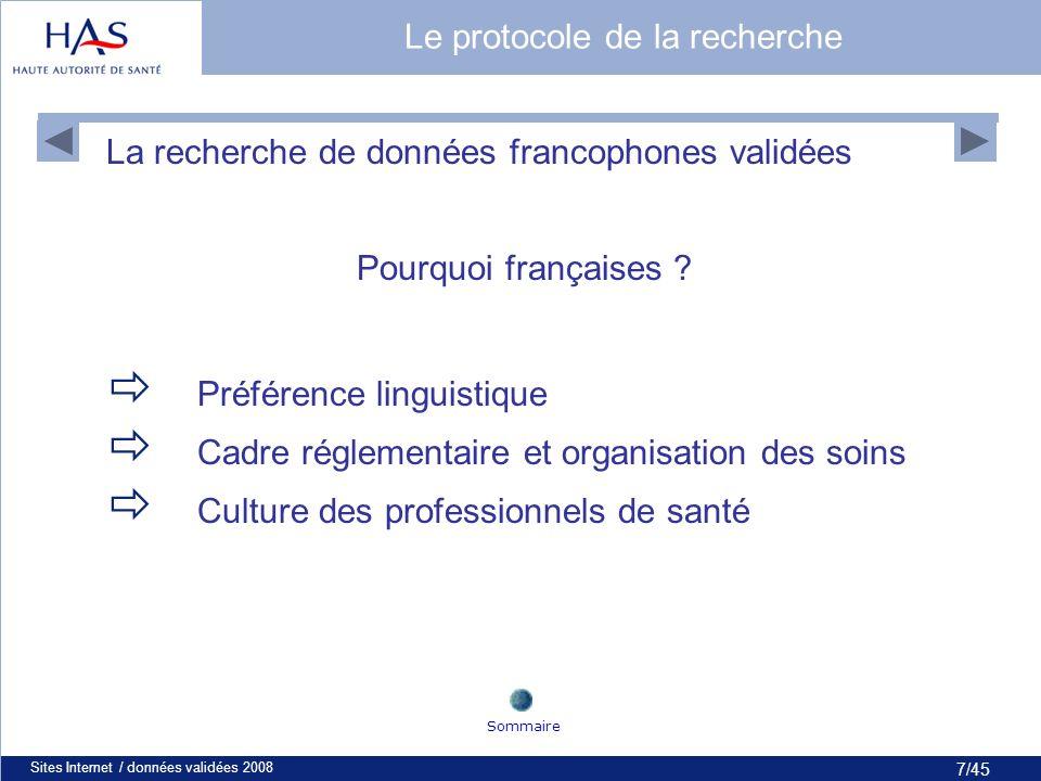 28/45 Sites Internet / données validées 200828 Sommaire Le site du Nice (3/3)