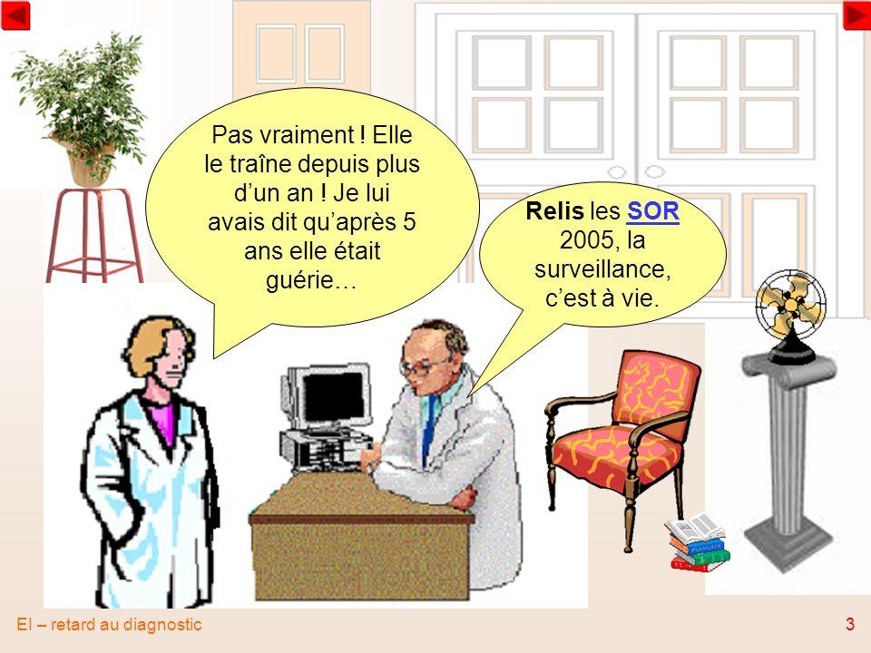 EI – retard au diagnostic4 Comment faire pour que la prochaine fois la patiente soit mieux informée .