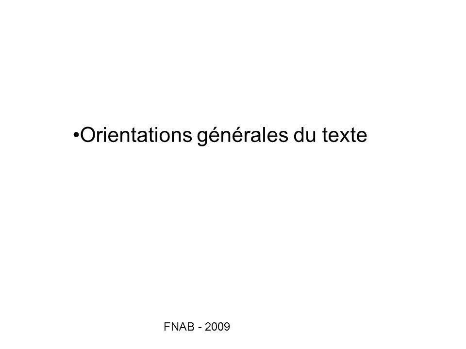 FNAB - 2009 Orientations générales du texte