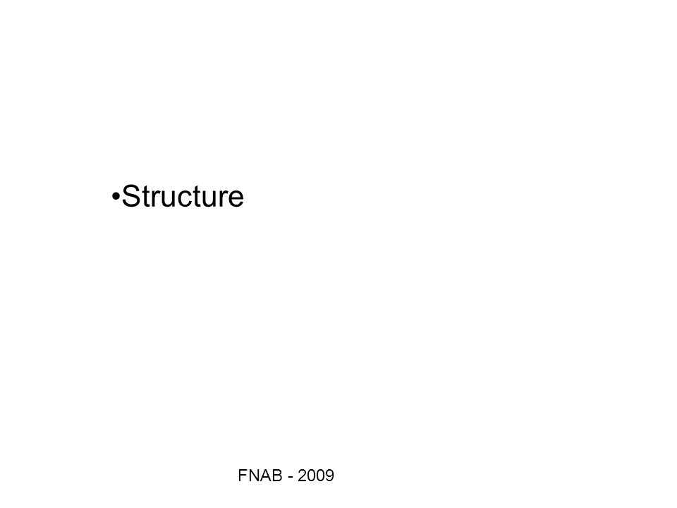 FNAB - 2009 Structure