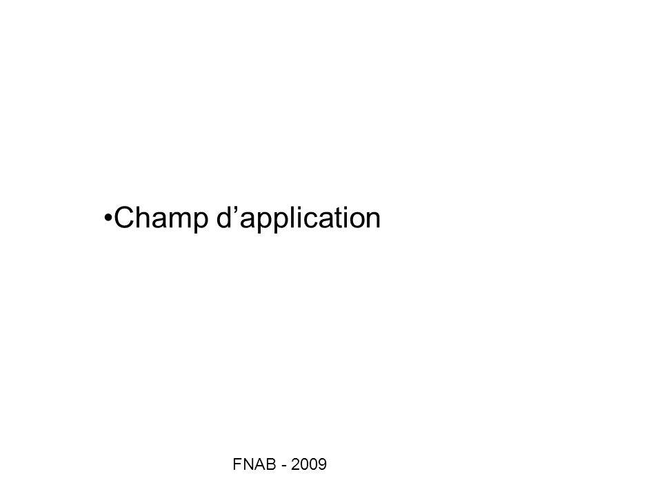 FNAB - 2009 Champ dapplication