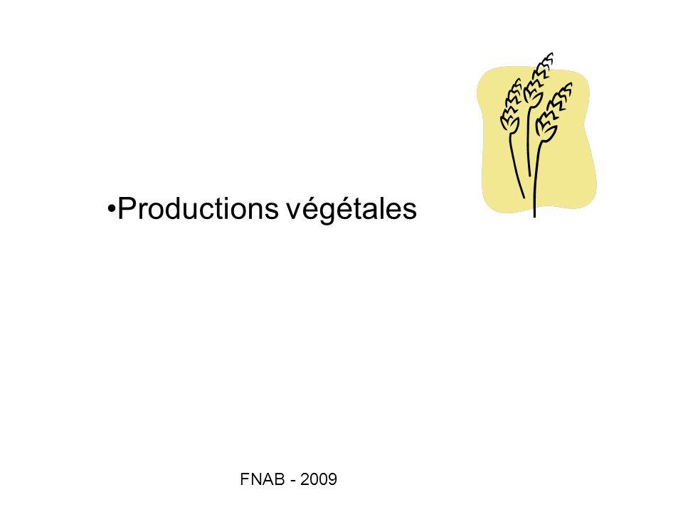 FNAB - 2009 Productions végétales
