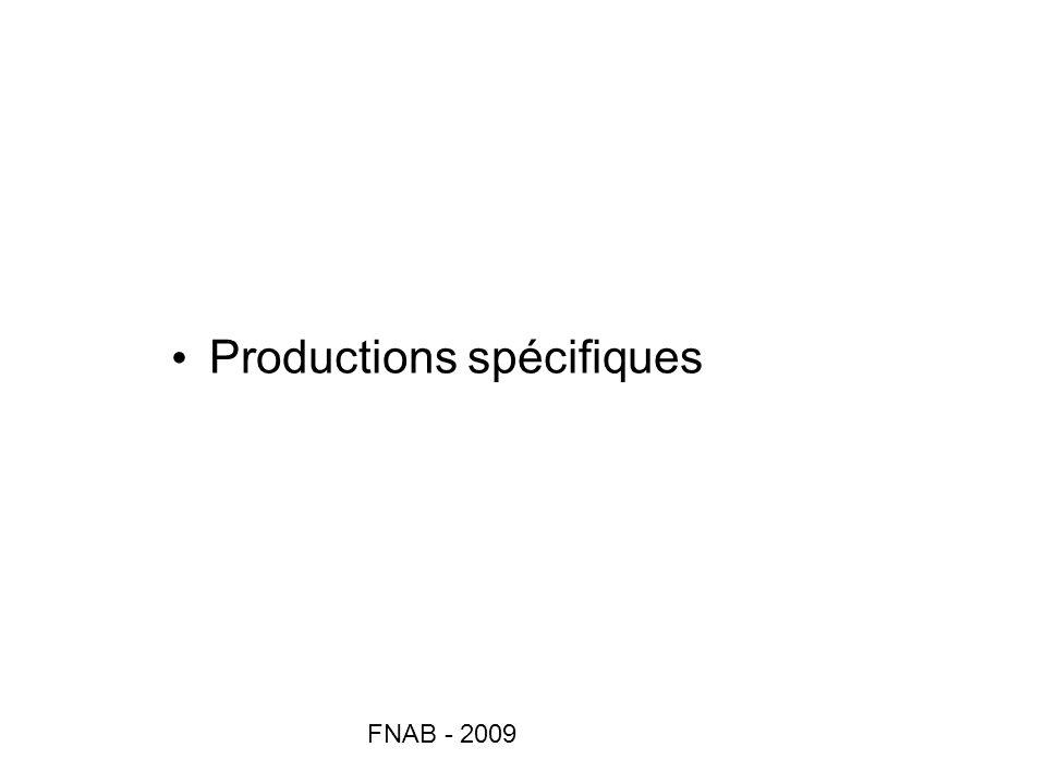FNAB - 2009 Productions spécifiques
