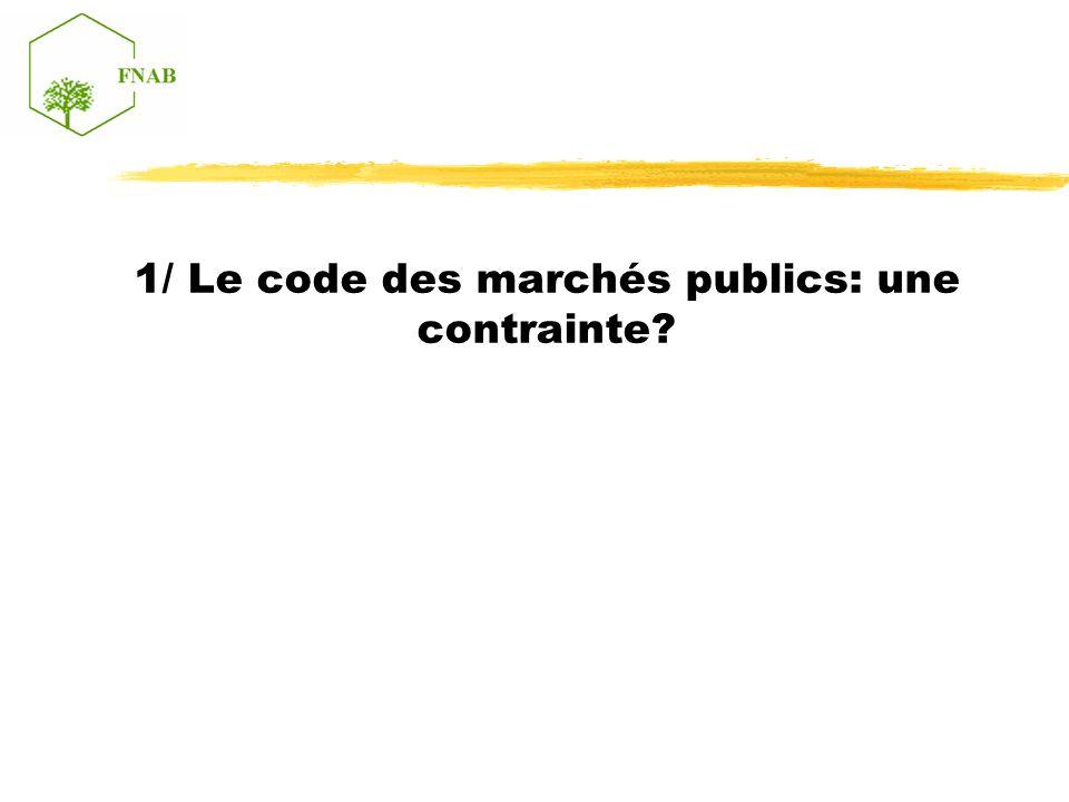 1/ Le code des marchés publics: une contrainte