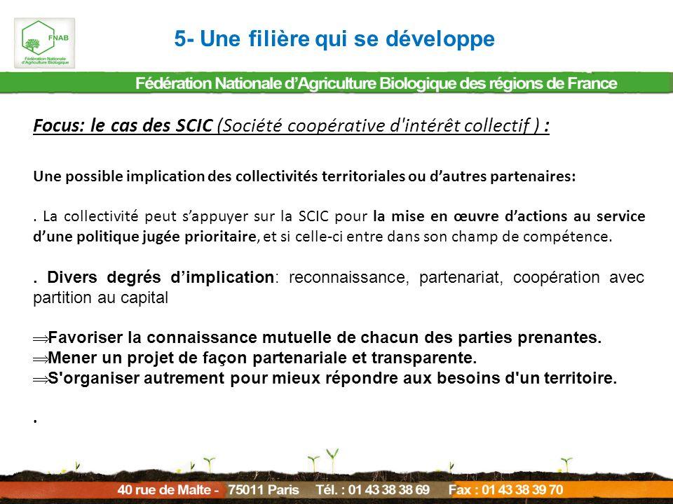 Focus: le cas des SCIC (Société coopérative d'intérêt collectif ) : Une possible implication des collectivités territoriales ou dautres partenaires:.
