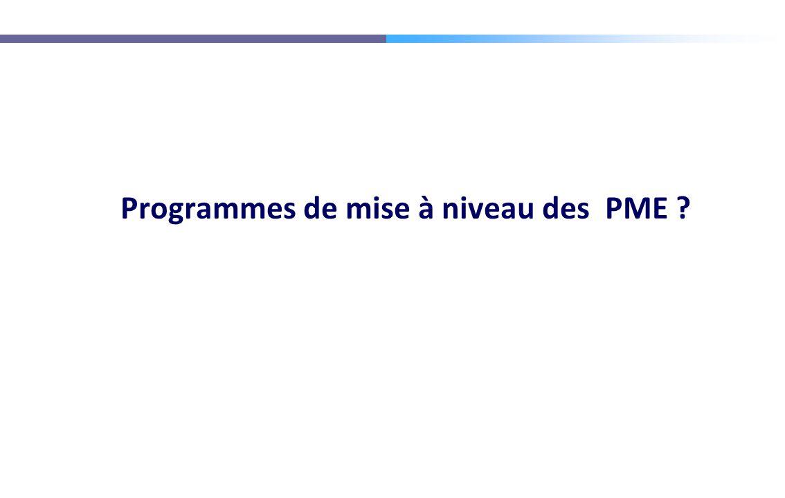 Programmes de mise à niveau des PME ?