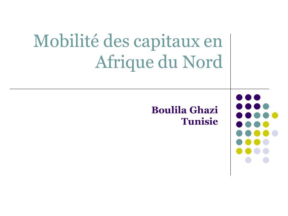 Mobilité des capitaux en Afrique du Nord Boulila Ghazi Tunisie