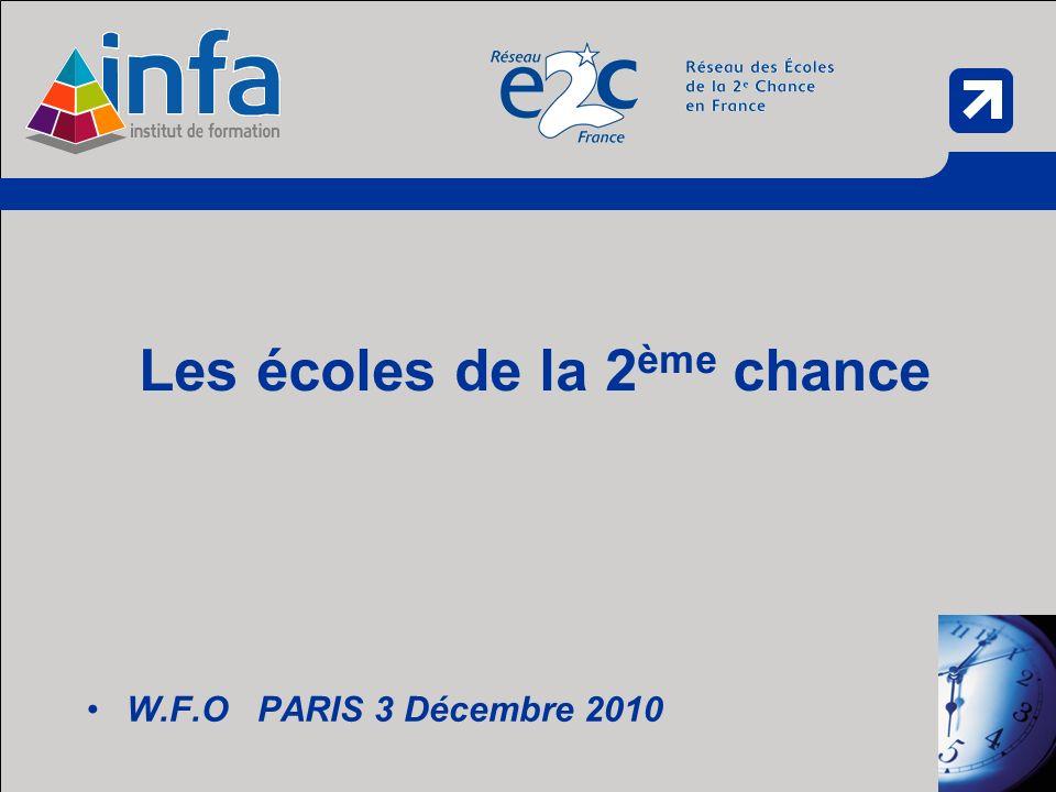 W.F.O PARIS 3 Décembre 2010 Les écoles de la 2 ème chance