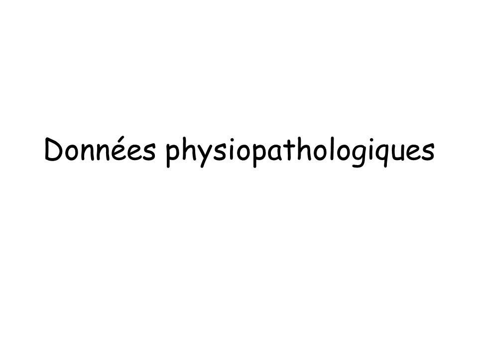 Données physiopathologiques