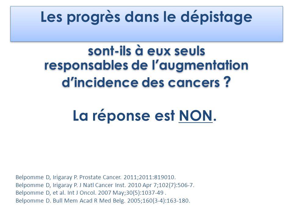 Les progrès dans le dépistage sont-ils à eux seuls responsables de laugmentation dincidence des cancers ? Les progrès dans le dépistage sont-ils à eux