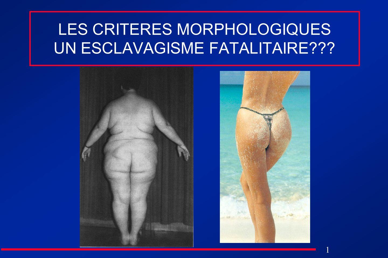 1 LES CRITERES MORPHOLOGIQUES UN ESCLAVAGISME FATALITAIRE???