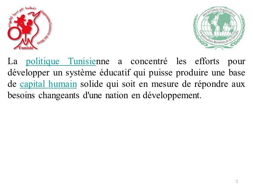 La politique Tunisienne a concentré les efforts pour développer un système éducatif qui puisse produire une base de capital humain solide qui soit en mesure de répondre aux besoins changeants d une nation en développement.politique Tunisiecapital humain 3