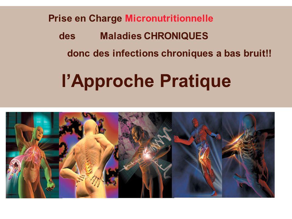 Prise en Charge Micronutritionnelle des Maladies CHRONIQUES donc des infections chroniques a bas bruit!! lApproche Pratique