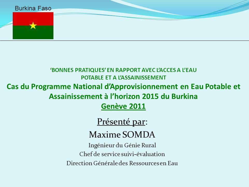 PLAN DE LEXPOSE 1- Présentation du Programme National dApprovisionnement en Eau Potable (PN-AEPA) 2- Le PN-AEPA une « Bonne pratique »